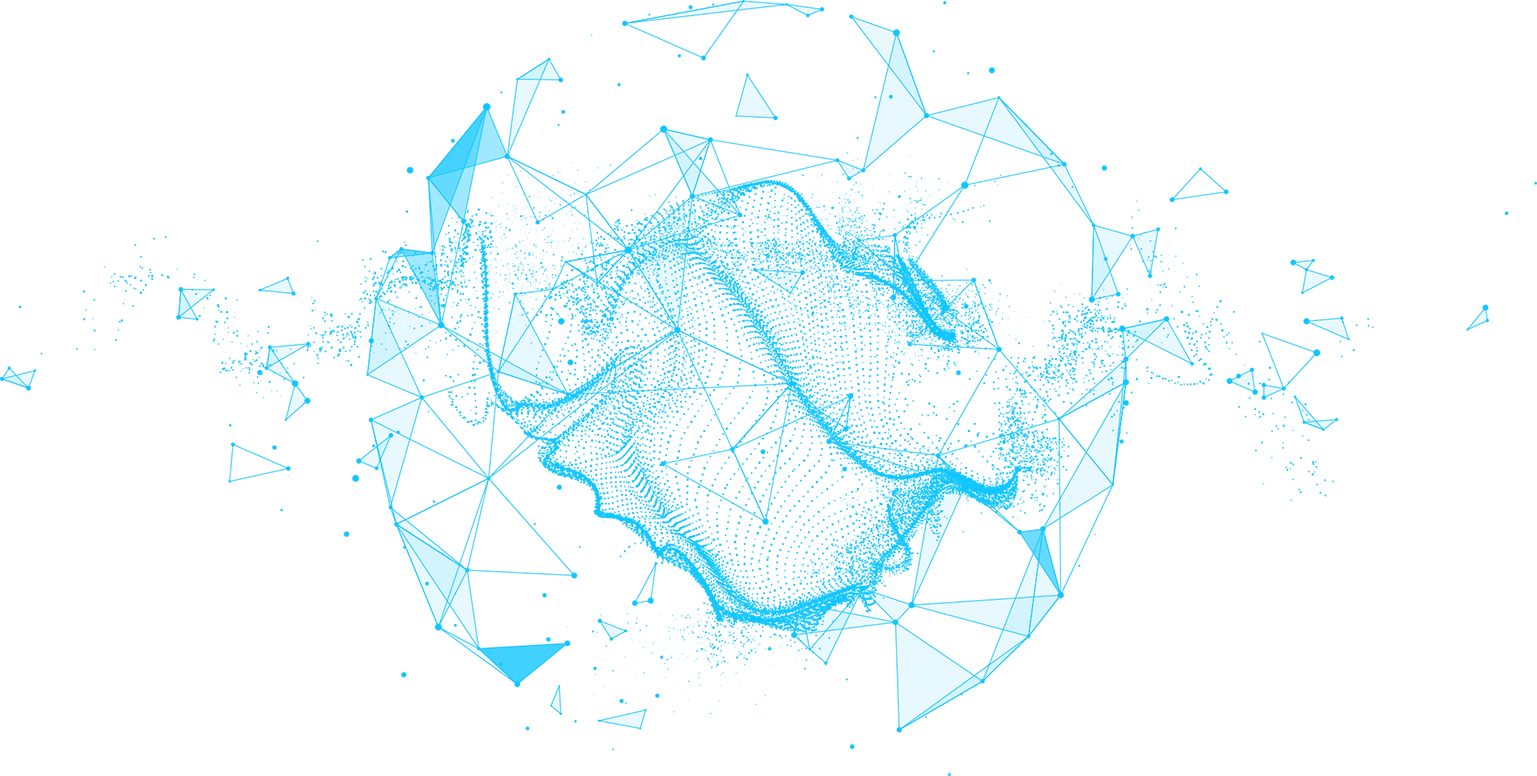Sphere with Connected Lines and Dots